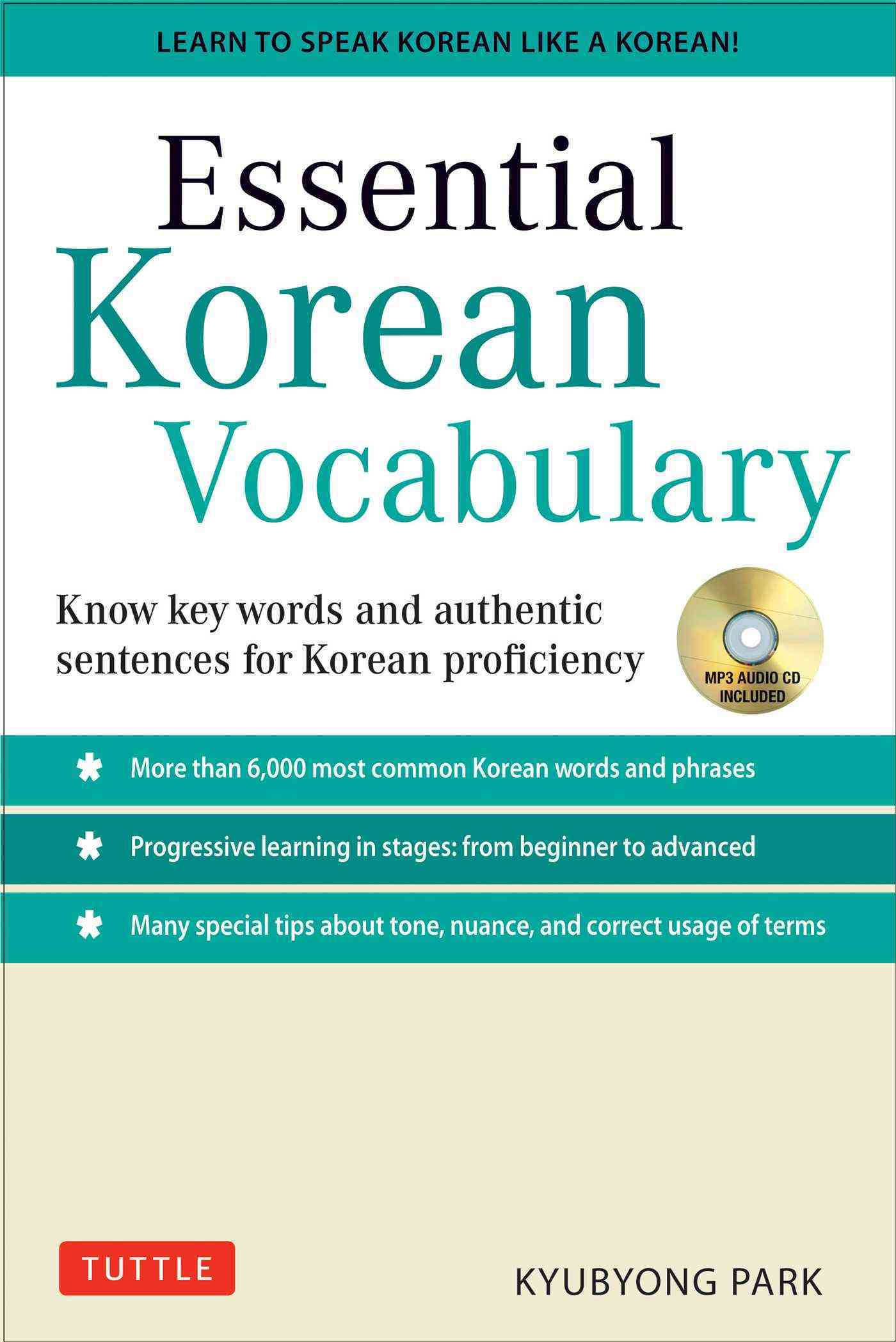 Essential Korean Vocabulary By Park, Kyubyong